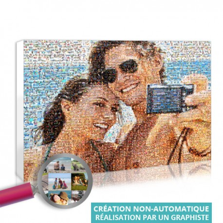 Mosaic picture in color - personalised mosaic of images