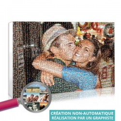 Photo Mosaic poster - Couple
