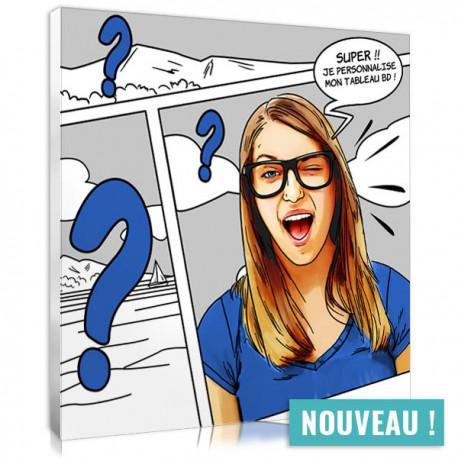Comic strip portrait to costumise - Square