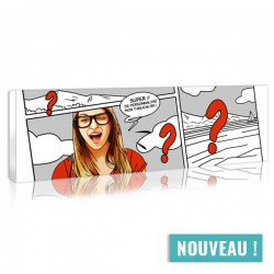 Panoramic comic strip portrait to costumise