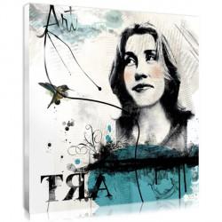 Letters Stencil Woman - Square