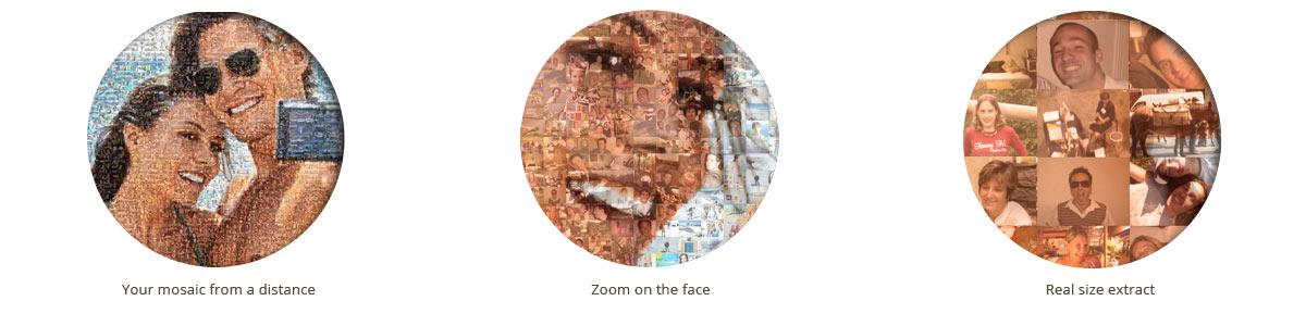 zoom on photo mosaic