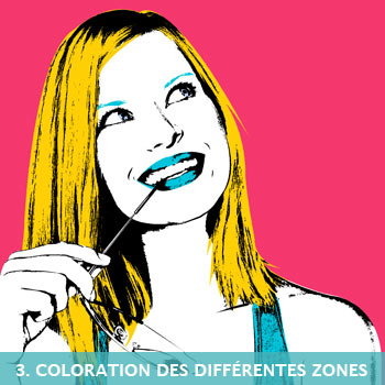 Coloration du tableau pop art