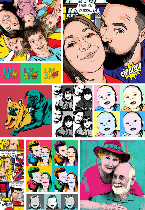 Exemples de tableaux pop art