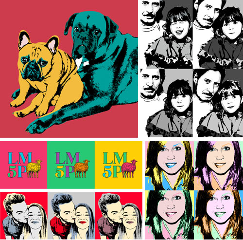 Exemples de tableau photo pop art