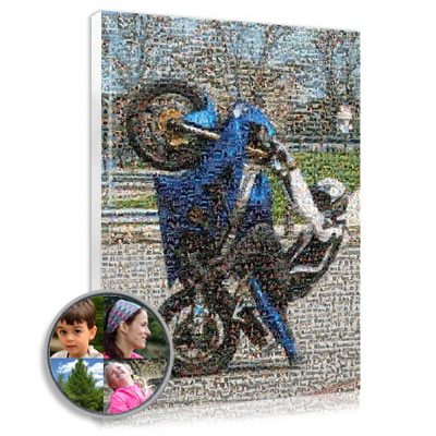 Surprise him by offering him a photo mosaic canvas