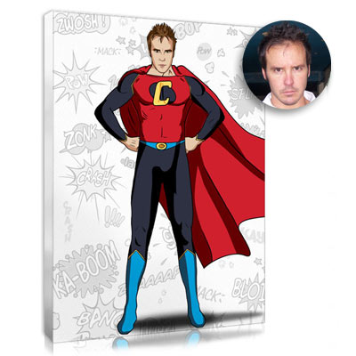 Personalised Superman portrait for Father's day