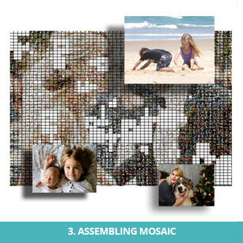 Assembling photo mosaic