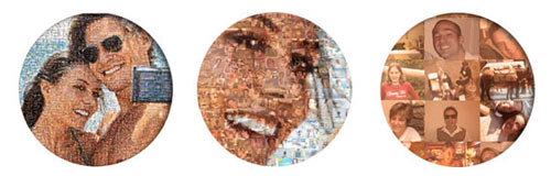 zoom on photo mosaic