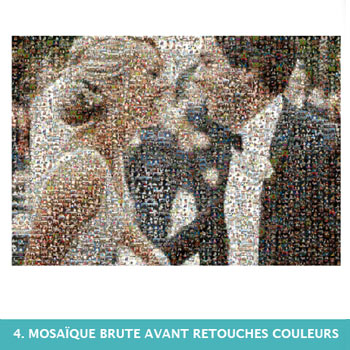 Mosaïque de photo avant retouches