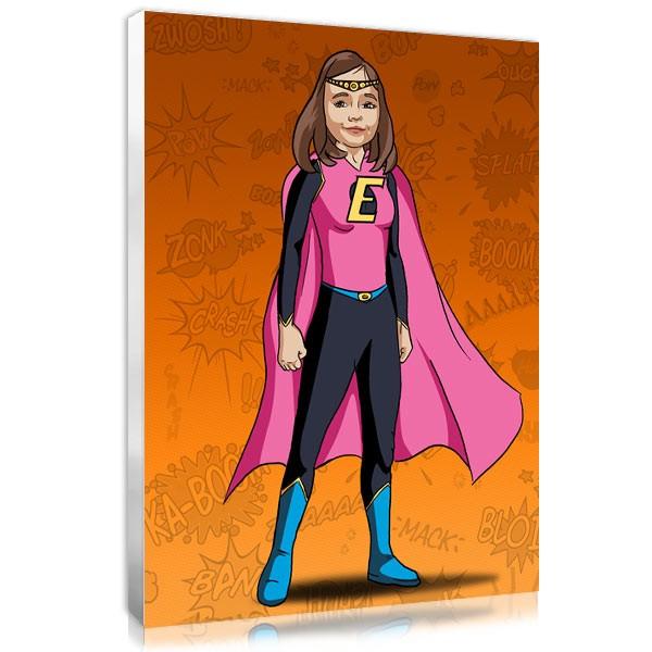 Comic girl - orange