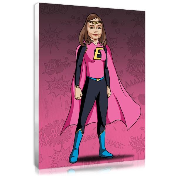 Comic girl - rose