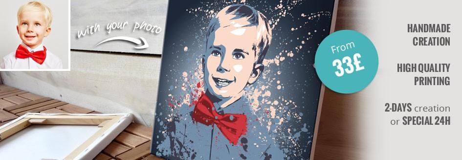 personalized portrait splash