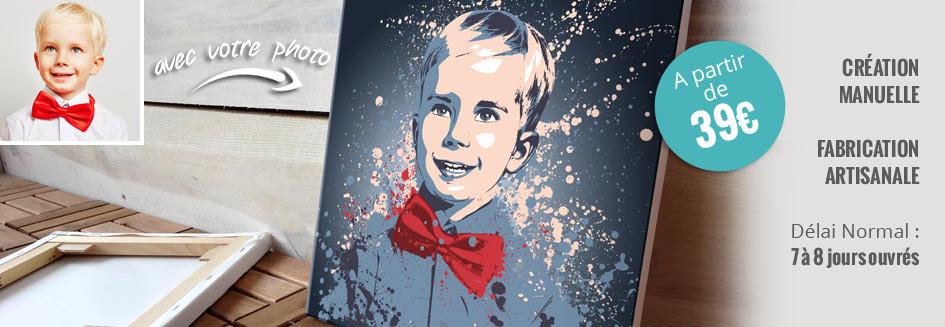 Tableau personnalisé avec votre photo pour une décoration murale originale